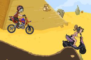 崎岖山路摩托车