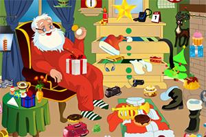 圣诞老人杂乱房间