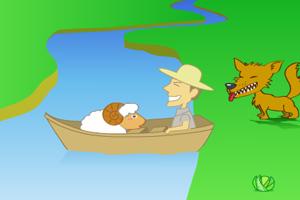 小绵羊过河