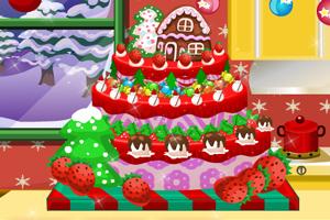 美味的圣诞蛋糕