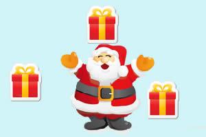 圣诞爷爷接礼物
