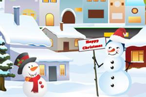 布置圣诞雪城