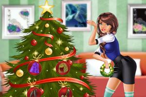 圣诞美丽女孩