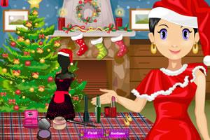 沙拉圣诞节美容