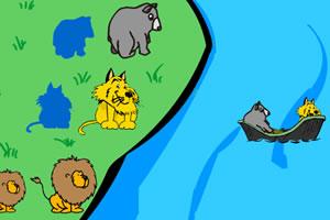 小动物渡河