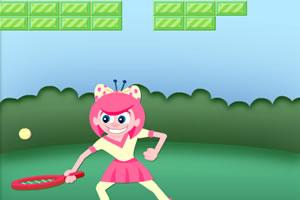 女孩网球打砖块