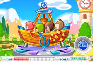 小美坐海盗船