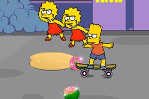 辛普森一家的亲子滑板