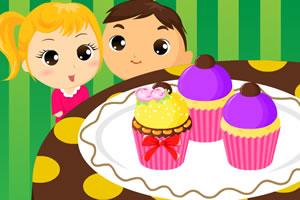 儿童美味七彩小蛋糕