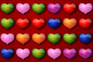 彩色爱心对对碰