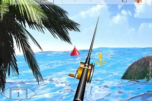 阳光沙滩钓鱼