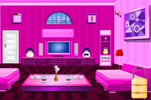 逃离粉色调房间