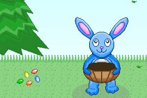 小兔子接糖果