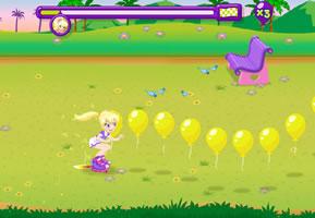波莉撞气球