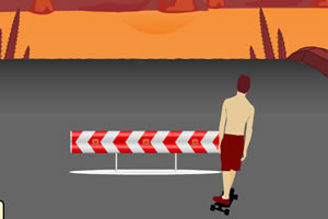 夏日街头滑板