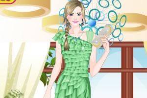美丽雪纺连衣裙