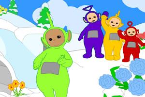 天线宝宝滑雪