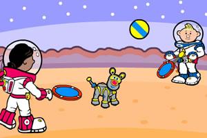 宇航员打网球