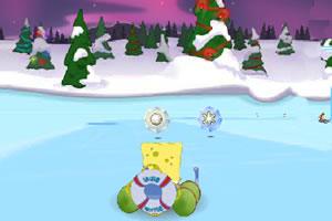 海绵宝宝滑雪橇