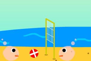 大头沙滩排球