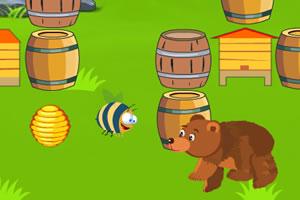 小熊偷吃蜂蜜