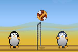 企鹅玩排球