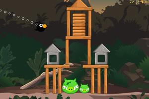 愤怒的小鸟之射击小猪