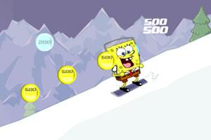 海绵宝宝瑞士滑雪