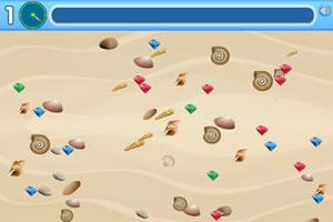 沙滩捡宝石