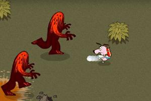 胆小狗闯熔岩地