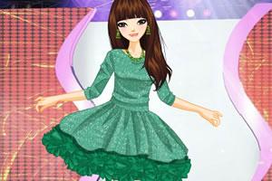 时尚褶皱裙