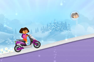 朵拉探险家骑摩托
