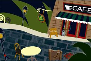 树下的咖啡馆