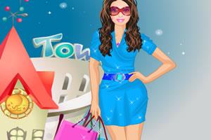 女孩去购物