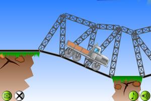 搭建峡谷轨道桥