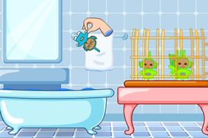 天线宝宝洗澡