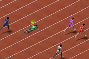 百米赛跑热身赛