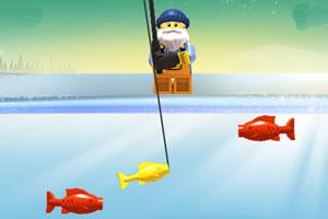 乐高爷爷钓金鱼