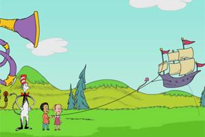 和猫先生放风筝