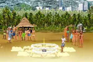 沙滩花式足球表演