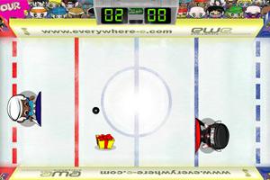卡通小子冰球赛