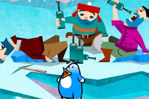 企鹅爱偷鱼