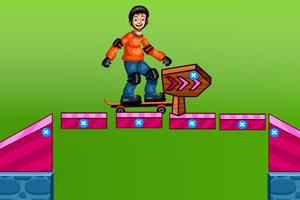 滑板初学者