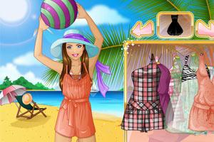 夏日沙滩女生