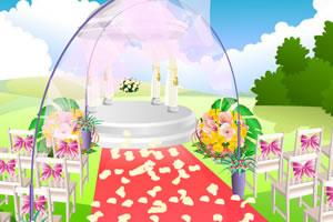 布置海滩婚礼