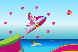 芭比开摩托艇