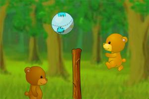 熊熊打排球
