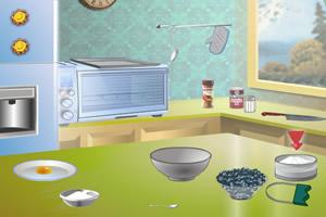 制作蓝莓酥饼