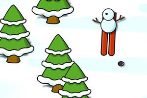 小雪人滑雪