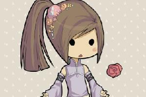打扮日本小女孩